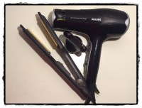 Blow Dryer and Flat Iron