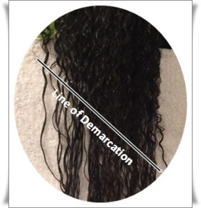 Line of Demarcation on hair