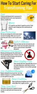 How To Start Caring For Transitioning Hair Infographic