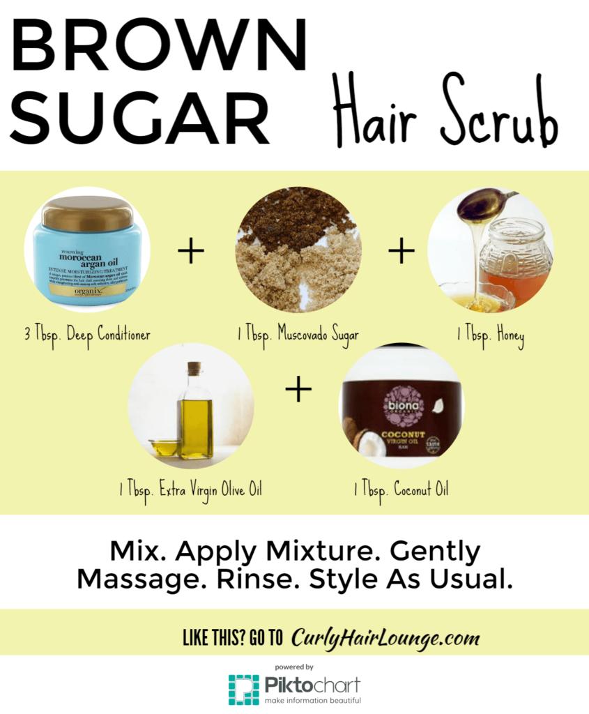 Brown Sugar Hair Scrub Recipe Infographic