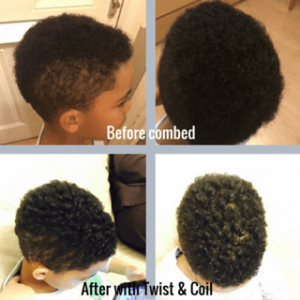 Before and After Twist & Coil