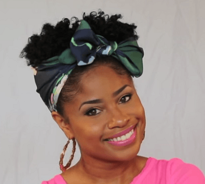 TheChicNatural_Scarf Updo