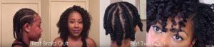Flat Braid & Twist Out