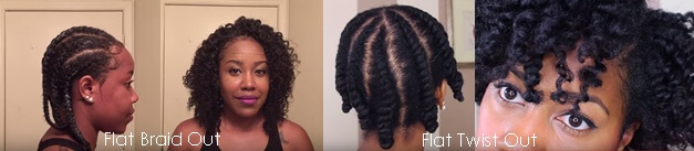 Flat Braid & Twist Out