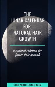 the lunar calendar for natural hair growth