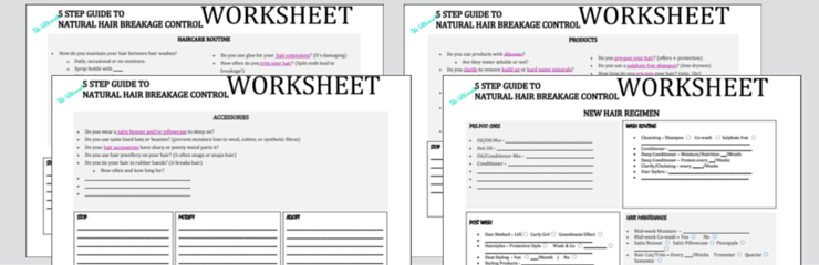 The Ultimate 5 Step Guide to Natural Hair Breakage Control Worksheets