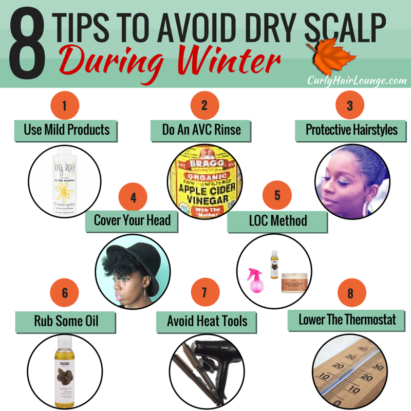 8 Tips to avoid dry scalp during Winter Infographic