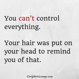 You cannot control everything