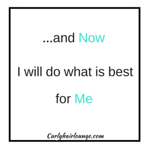 and now I will do what is best for me