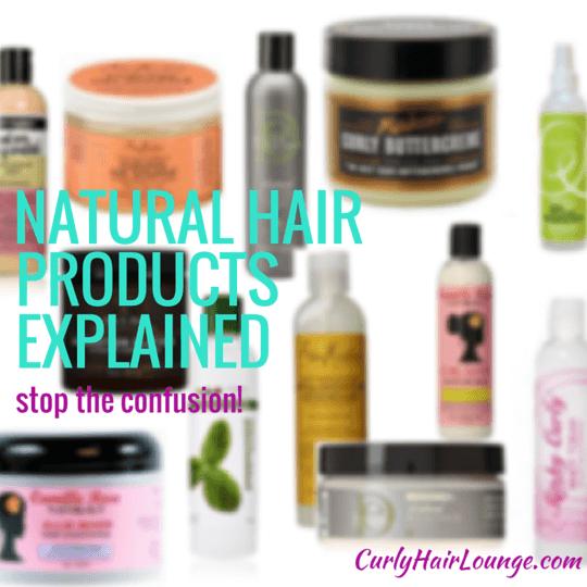 Natural Hair Product Names