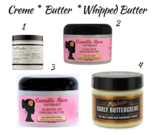 Natural Hair Products Explained_ hair Creme, butter, whipped butter
