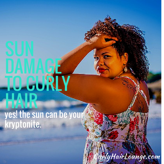 Sun Damage To Curly Hair