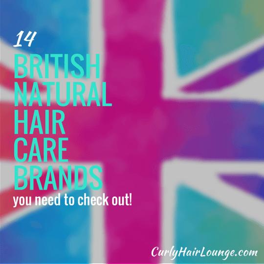 14 British Natural Hair Care Brands