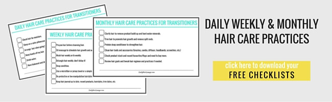 Daily Weekly and Monthly Hair Care Practices Checklist