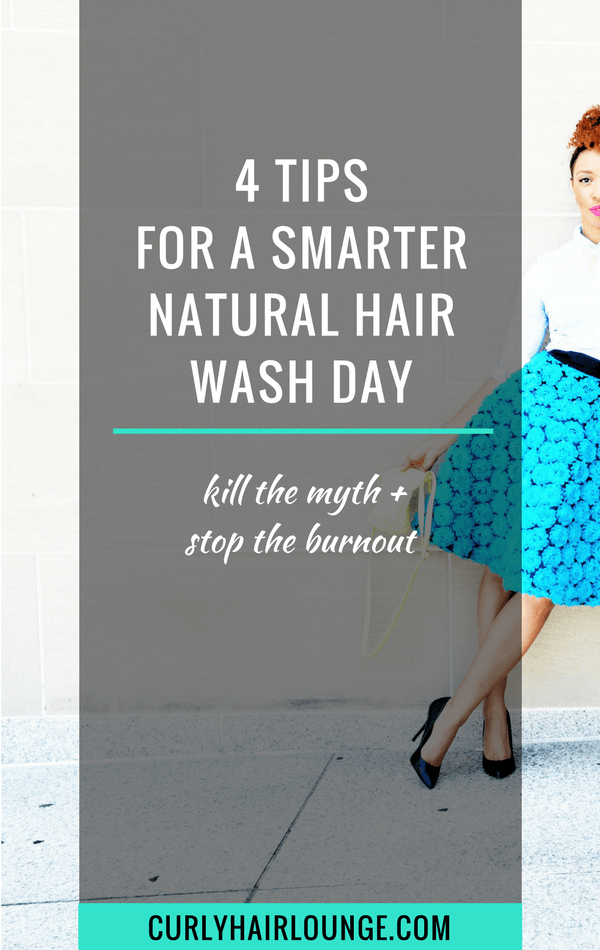 4 Tips For A Smarter Natural Hair Wash Day