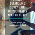 Finger detangling curly hair do you really need to do it