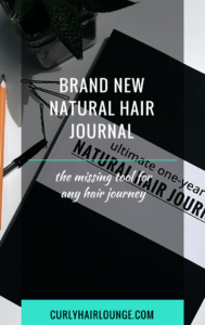 Brand New Natural Hair Journal