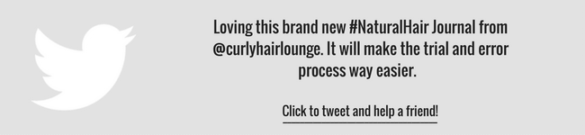 Curly Hair Lounge Natural Hair Journal