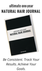 ultimate one-year Natural Hair Journal
