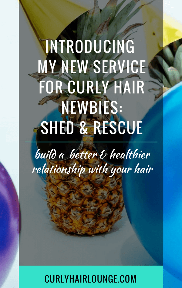 Introducing My New Service For Curly Hair Newbies Shed and Rescue