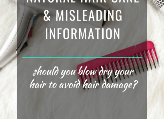 Natural Hair Care & Misleading Information