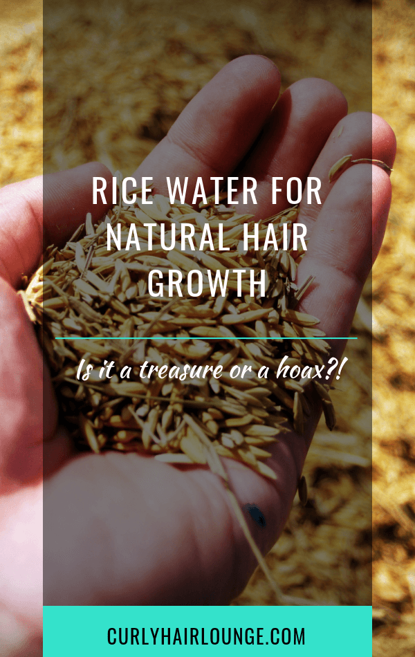 Rice Water For Natural Hair Growth